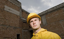 Portrait of confident construction worker Royalty Free Stock Images