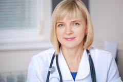 Portrait of confident doctor looking at camera. Royalty Free Stock Images