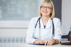 Portrait of confident doctor looking at camera. Stock Images