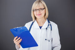 Portrait of confident doctor looking at camera. Royalty Free Stock Photos