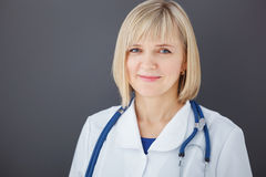 Portrait of confident doctor looking at camera. Stock Image