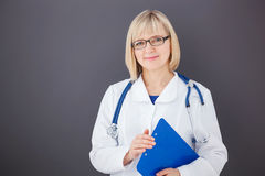 Portrait of confident doctor looking at camera. Royalty Free Stock Photo