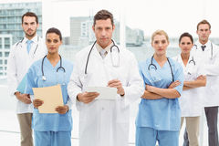 Portrait of confident doctors with arms crossed Royalty Free Stock Photo