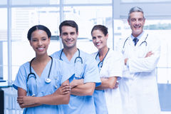 Portrait of confident doctors in row Stock Photography