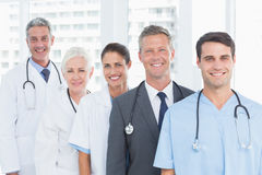 Portrait of confident doctors in row Royalty Free Stock Images