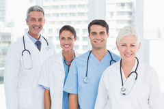 Portrait of confident doctors in row Royalty Free Stock Image