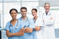 Portrait of confident doctors in row Royalty Free Stock Photo