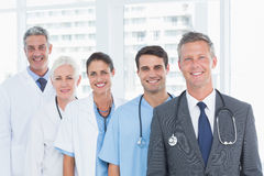 Portrait of confident doctors in row Royalty Free Stock Photos