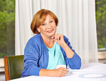 Portrait of a confident elderly Stock Photo
