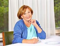 Portrait of a confident elderly Stock Photo