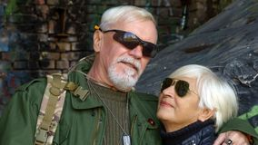 Portrait of confident elderly couple Royalty Free Stock Photography