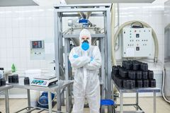 Portrait of Confident Factory Worker Royalty Free Stock Photos
