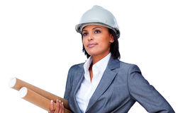 Portrait of a confident female architect Royalty Free Stock Image