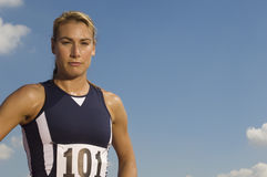 Portrait Of A Confident Female Athlete Royalty Free Stock Photography