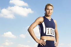 Portrait Of A Confident Female Athlete Royalty Free Stock Image