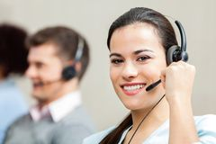 Portrait Of Confident Female Customer Service Royalty Free Stock Photos