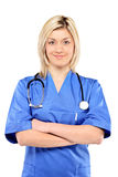 A portrait of a confident female doctor Royalty Free Stock Photos