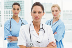 Portrait of confident female doctors with arms crossed Royalty Free Stock Image