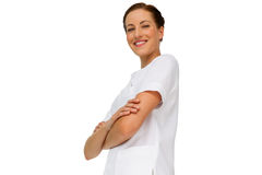Portrait of a confident female nurse with arms crossed Royalty Free Stock Photos