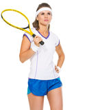 Portrait of confident female tennis player Royalty Free Stock Photography
