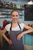 Portrait of confident female worker at coffee house Stock Image