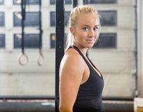 Portrait Of Confident Fit Woman At Healthclub Stock Photography
