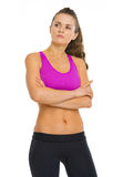 Portrait of confident fitness young woman Stock Photography