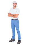 Portrait of confident handyman standing arms crossed Royalty Free Stock Photo