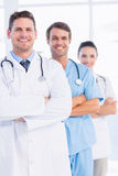 Portrait of confident happy group of doctors. Standing at the medical office Royalty Free Stock Photography