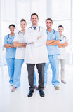 Portrait of confident happy group of doctors. Standing at the medical office Royalty Free Stock Image
