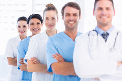 Portrait of confident happy group of doctors Stock Images