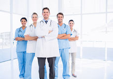 Portrait of confident happy group of doctors Royalty Free Stock Photography