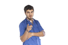 Portrait of confident junior medical doctor Stock Photography