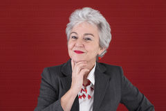 Portrait of confident Lady in Red Royalty Free Stock Photography