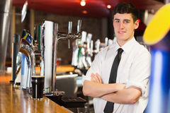 Portrait of confident male bartender Stock Photo