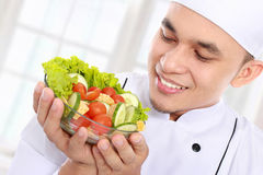 Chef with healthy food Stock Photography
