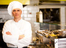 Portrait of confident male chef royalty free stock photography