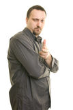 Portrait of confident  man. In shirt Royalty Free Stock Photo