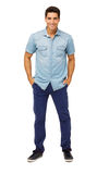 Portrait Of Confident Man With Hands In Pockets Stock Photo