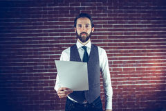 Portrait of confident man holding document Royalty Free Stock Images