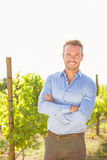 Portrait of confident man standing at vineyard Royalty Free Stock Images