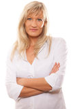 Portrait confident mature business woman isolated royalty free stock photography