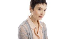 Portrait Of Confident Mature Woman stock image