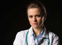 Portrait of confident medical doctor woman Royalty Free Stock Photography