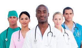 Portrait of confident medical team Stock Images