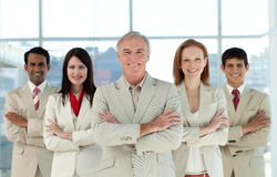 Portrait of a confident multi-ethnic business team Stock Photography