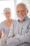 Portrait of confident old man Stock Images