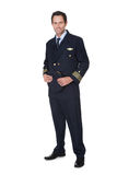 Portrait of confident pilot stock photography