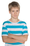 Portrait of a confident preteen boy Royalty Free Stock Image