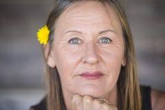 Portrait confident retired senior woman Royalty Free Stock Photos
